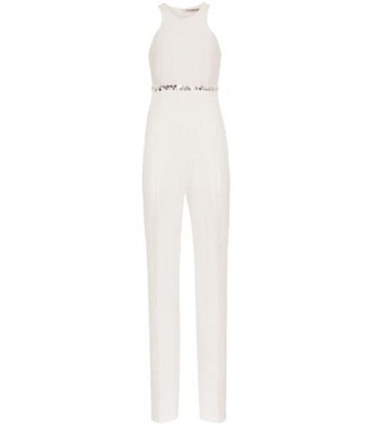 Roberto Cavalli Linen-blend jumpsuit in white
