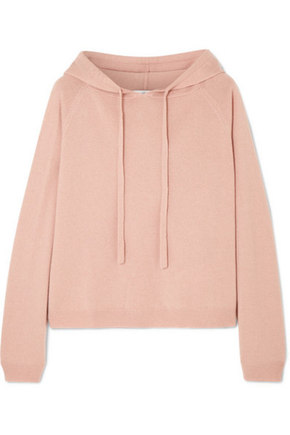 Allude - Wool And Cashmere-blend Hoodie - Beige