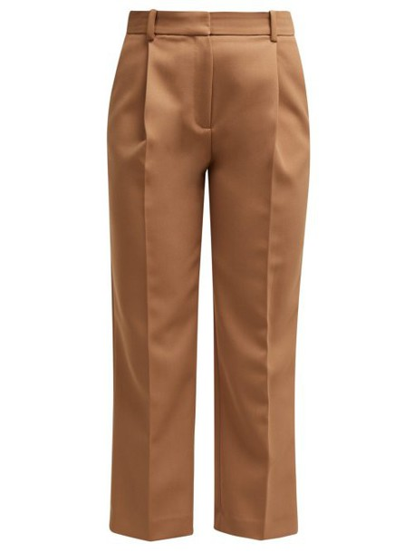 See By Chloé See By Chloé - Cropped Tricotine Trousers - Womens - Beige