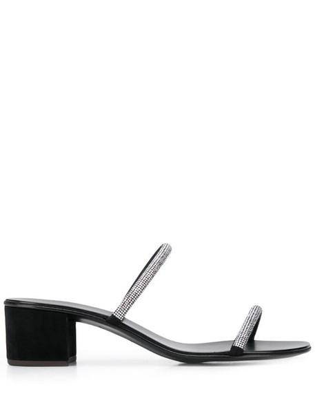 Giuseppe Zanotti Croisette Crystal 50 sandals in black