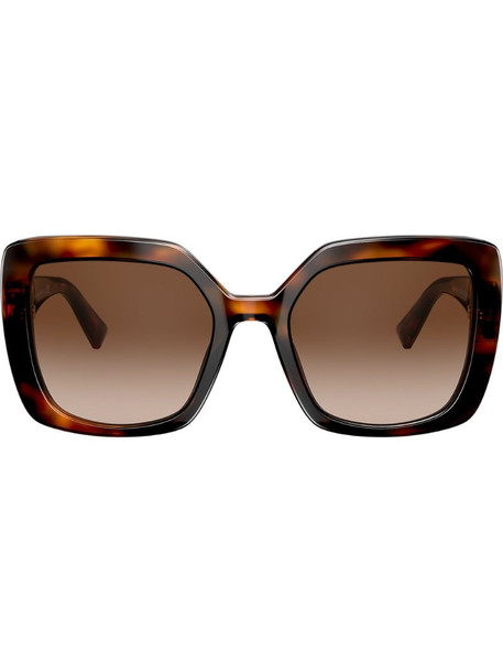 Valentino Eyewear VLOGO oversized sunglasses in brown