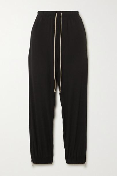 Rick Owens - Crepe De Chine Track Pants - Black