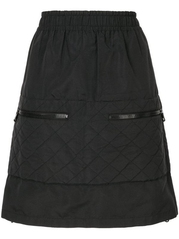 Chanel Pre-Owned quilted mini skirt in black