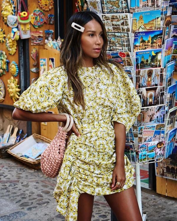 dress mini dress short sleeve dress handbag
