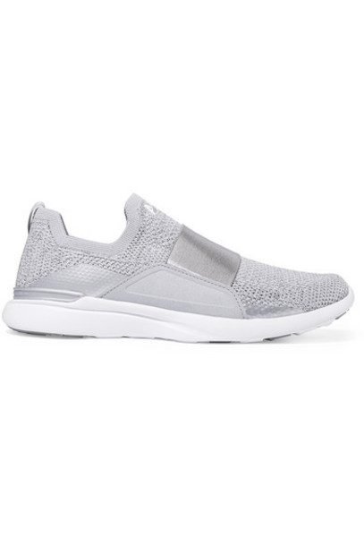 APL Athletic Propulsion Labs - Techloom Bliss Metallic Mesh And Neoprene Sneakers - Silver