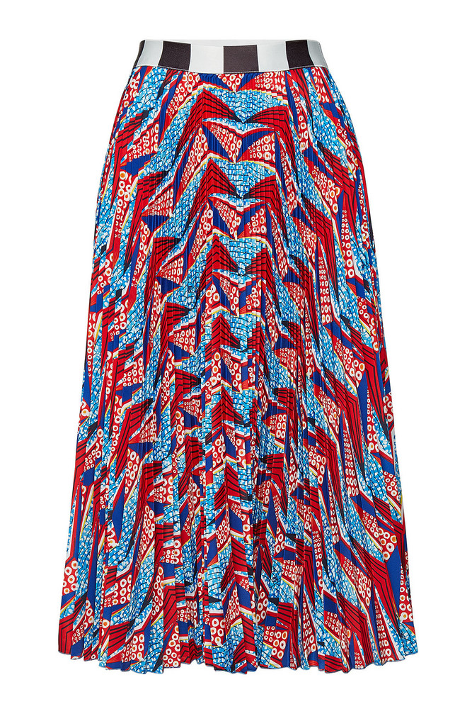 Stella Jean Printed Pleated Skirt