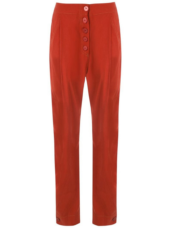LE SOLEIL D'ETE Ane slim trousers in red