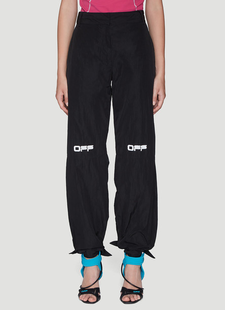 Off-White Tied Cuff Pants in Black size IT - 42