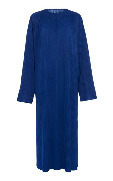 Givenchy Pleated Jersey Midi Dress in blue