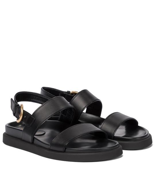 Gianvito Rossi Bilbao leather sandals in black