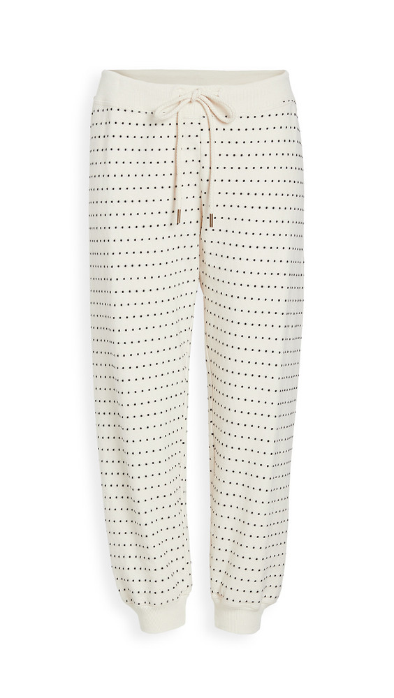 THE GREAT. THE GREAT. The Swiss Dot Cropped Sweatpants in white