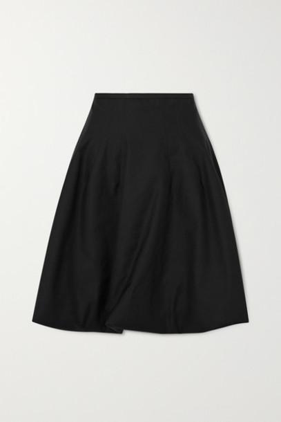 Khaite - Tanya Poplin Skirt - Black