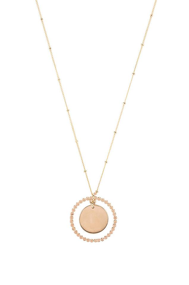 Paradigm Stars Align Coin Pendant Necklace in gold / metallic
