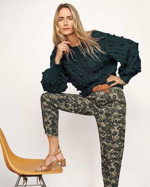sweater belt pants shoes