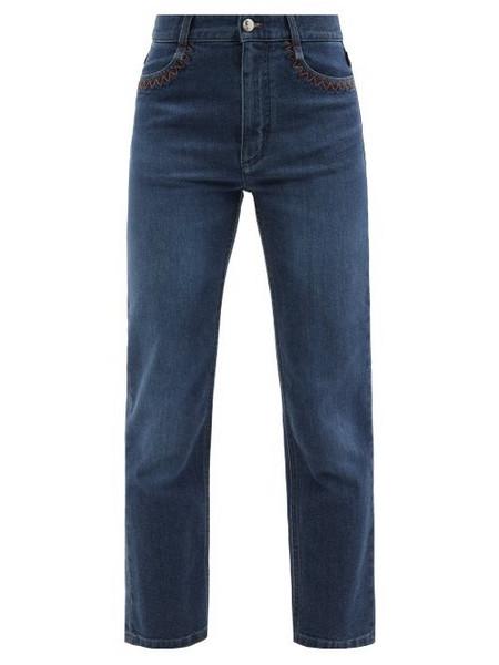 Chloé Chloé - High-rise Cropped Flared-leg Jeans - Womens - Denim