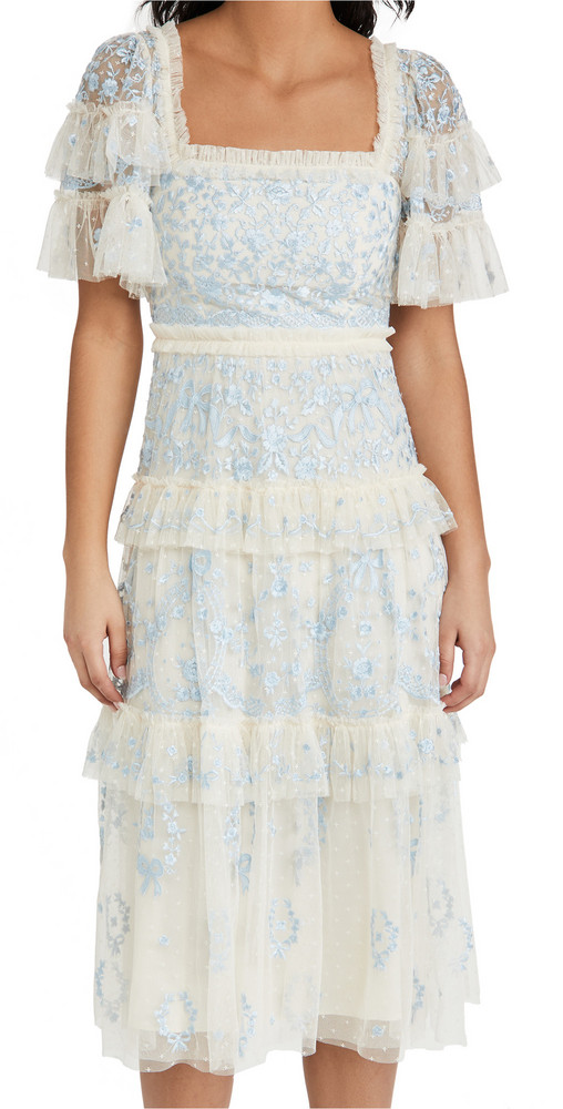 Needle & Thread Arwen Midaxi Dress in blue
