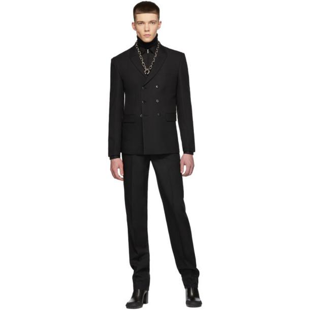Random Identities Black Double-Breasted Blazer