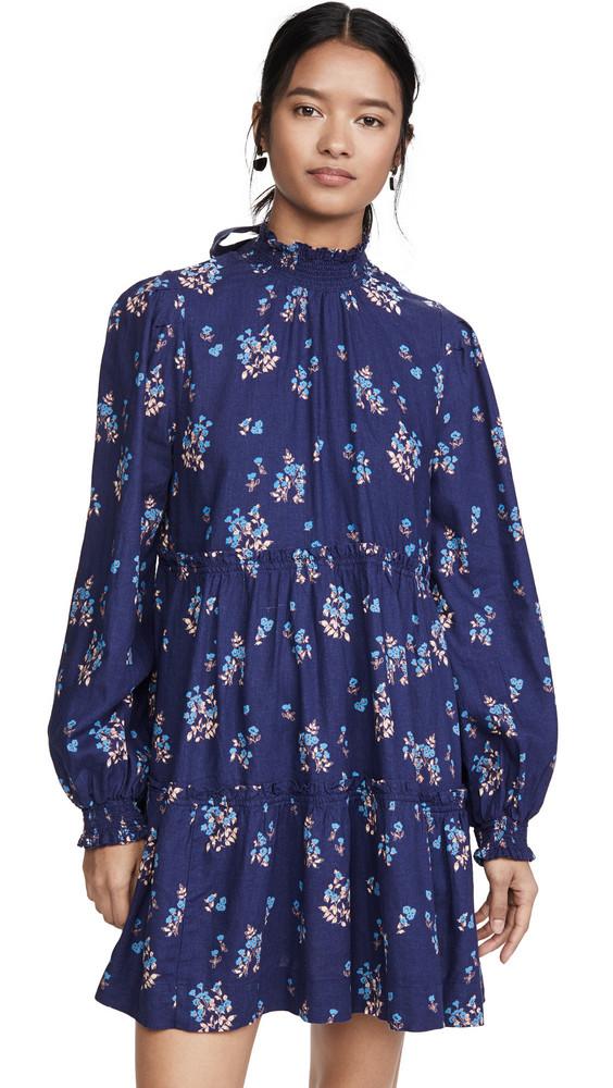 Free People Petit Fours Mini Dress in indigo