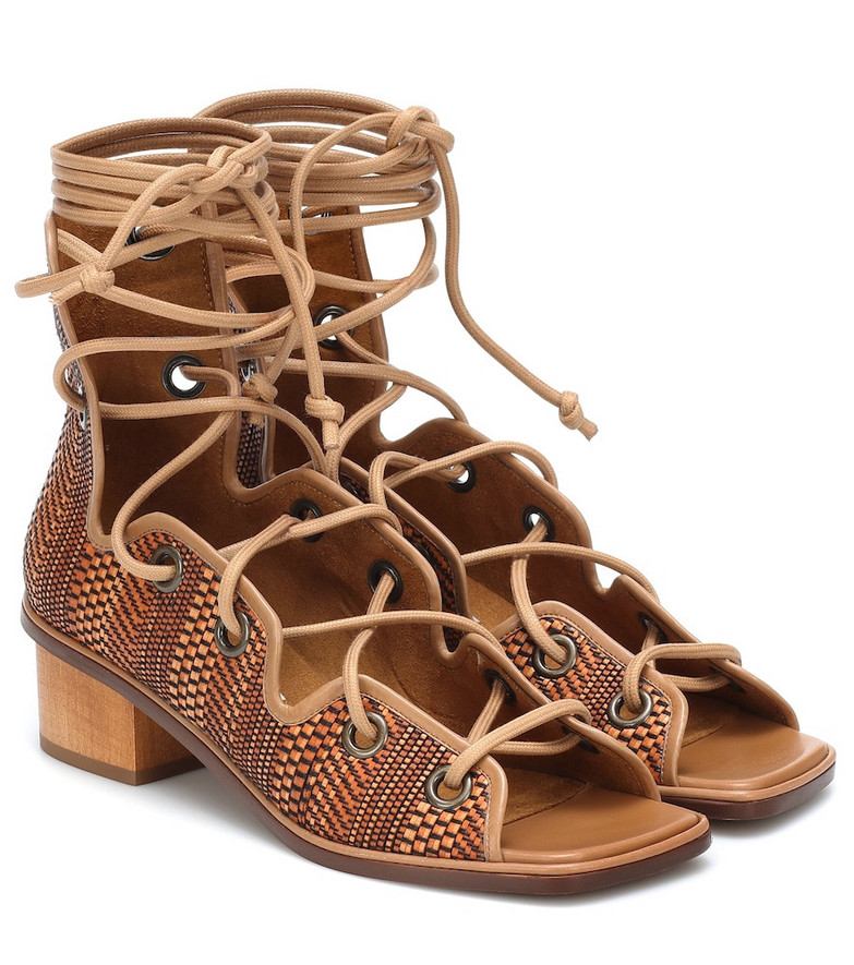 Stella McCartney Maia faux-leather gladiator sandals in brown