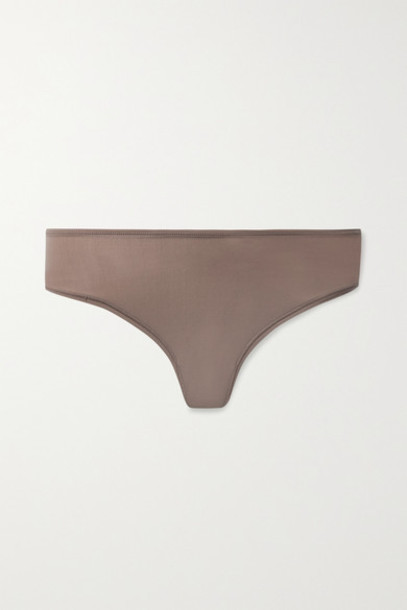 SKIMS - Fits Everybody Thong - Umber in neutral