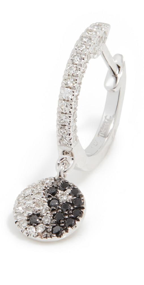 Meira T 14k Yin Yang Earring in silver