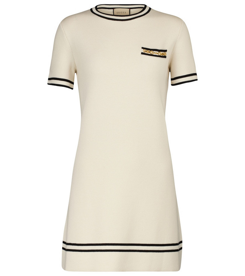 Gucci Wool minidress in white