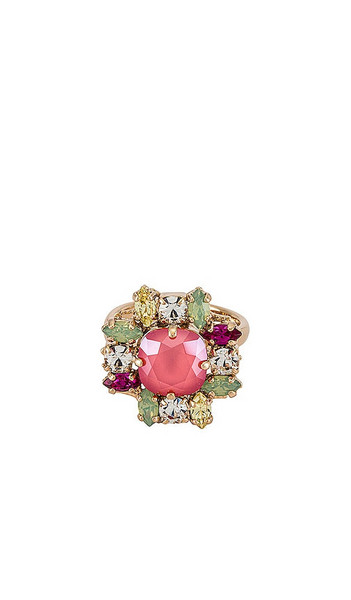 Anton Heunis Crystal Cluster Ring in Pink in multi