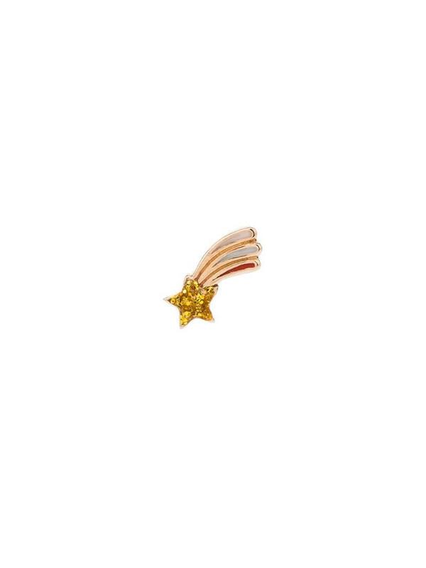 Alison Lou 14kt gold shooting-star single earring