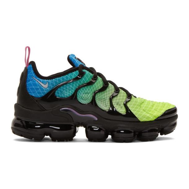 Nike Black and Green Air Vapormax Plus Sneakers