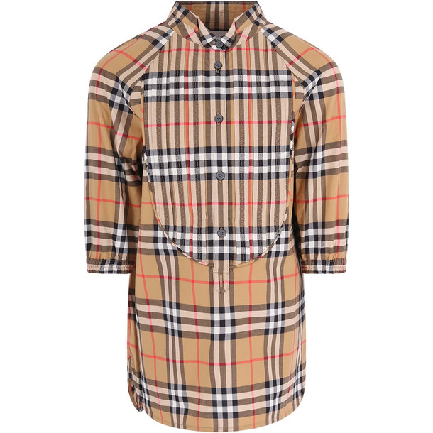 Burberry Vintage Checked Girl Dress in beige