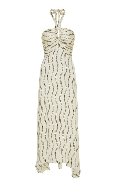 Alexis Sydow Chain Link Maxi Dress in print