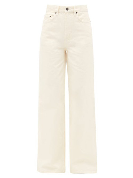 The Row - Issa High-rise Cotton Wide-leg Jeans - Womens - Ivory