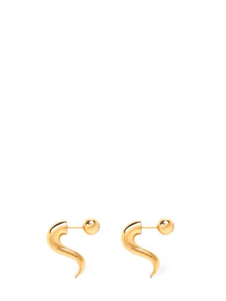 BALENCIAGA Force Horn Earrings in gold