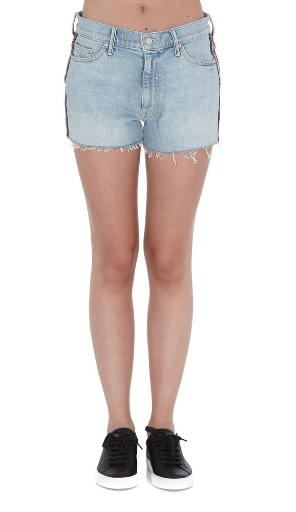 Mother Easy Does It Shorts in denim / denim
