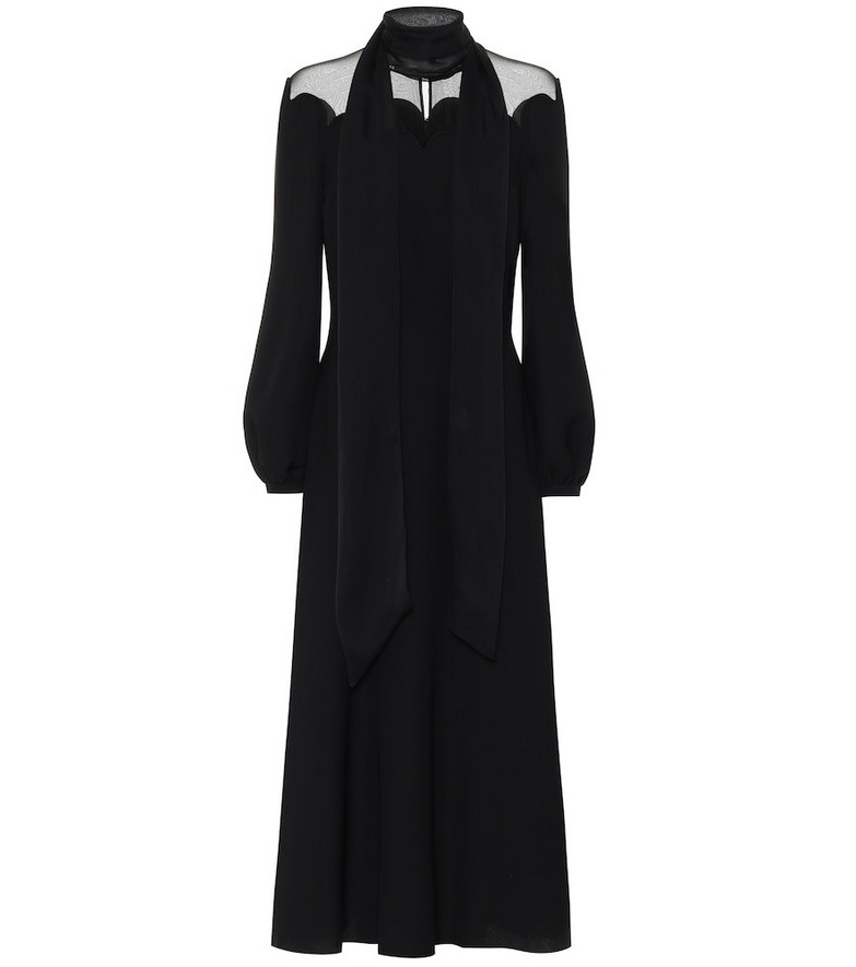 Valentino Silk-crêpe gown in black