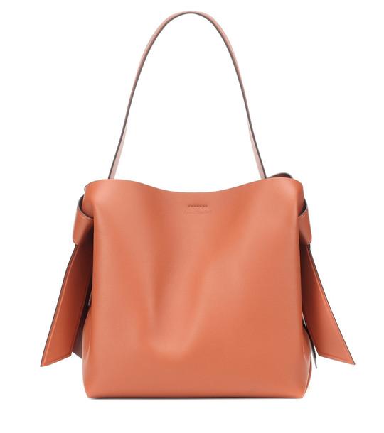 Acne Studios Musubi Medium leather shoulder bag in brown