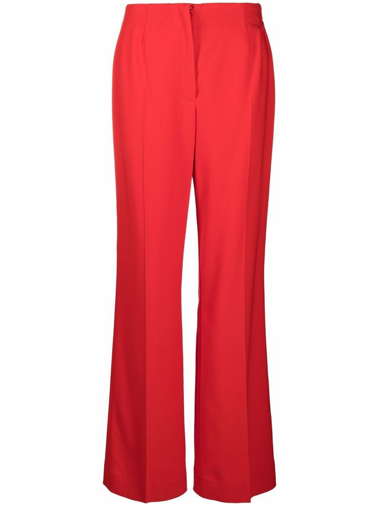 Essentiel Antwerp high-waisted tailored trousers in red