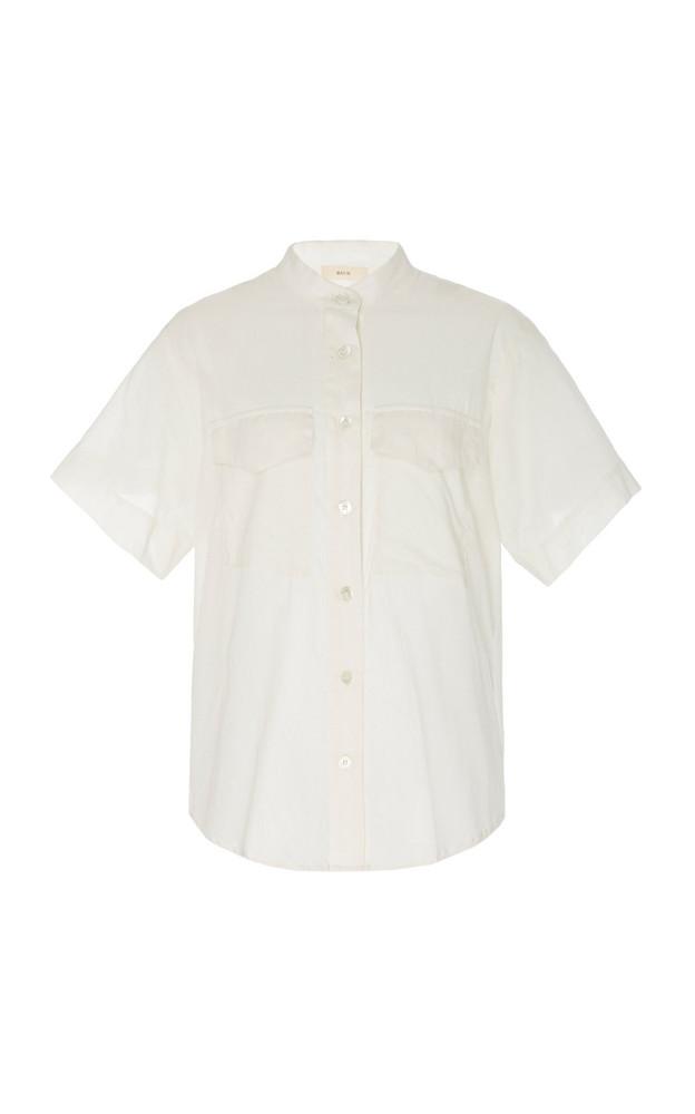 Matin Double Pocket Cotton Shirt in white