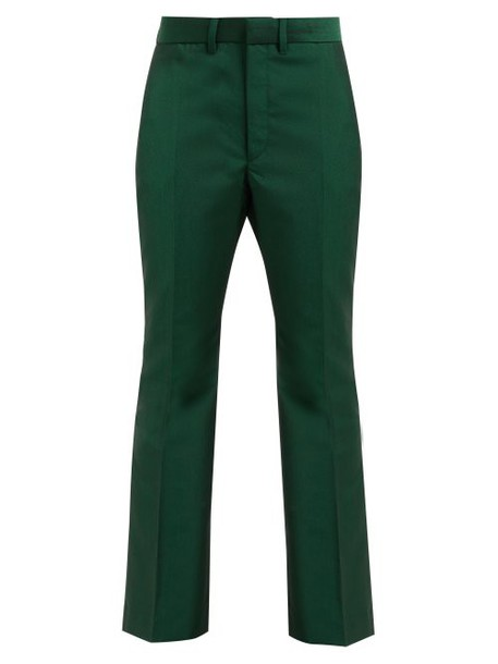 Toga - Yester Wool Blend Twill Trousers - Womens - Green