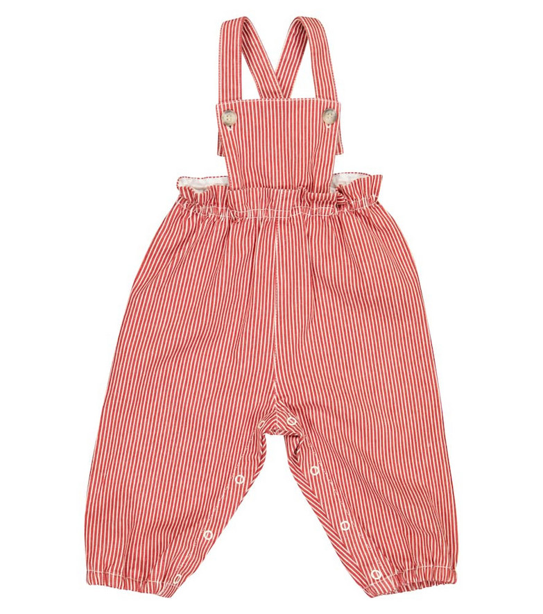 Bonpoint Baby Papaye stretch-cotton overalls in red