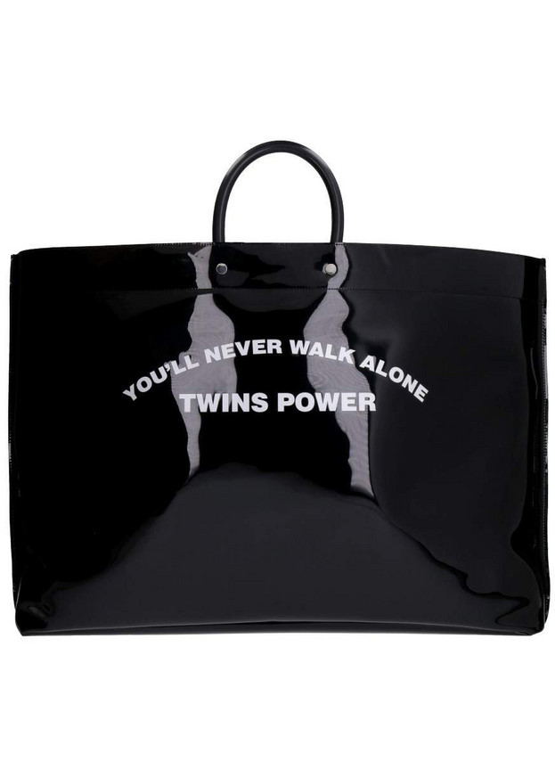 Dsquared2 Twins Power Pvc Printed Tote Bag in black