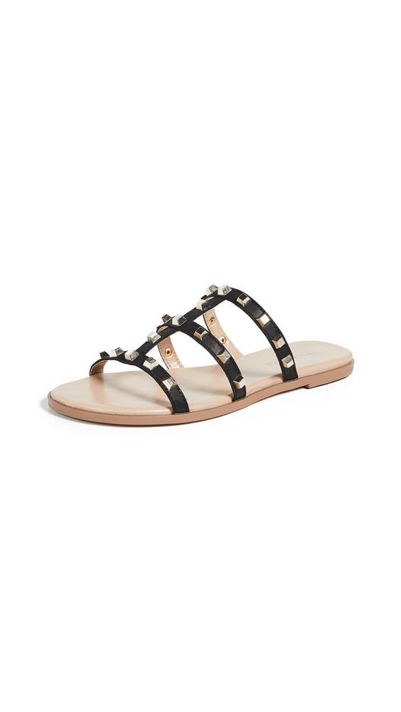 Villa Rouge Sophie Slide Sandals in black