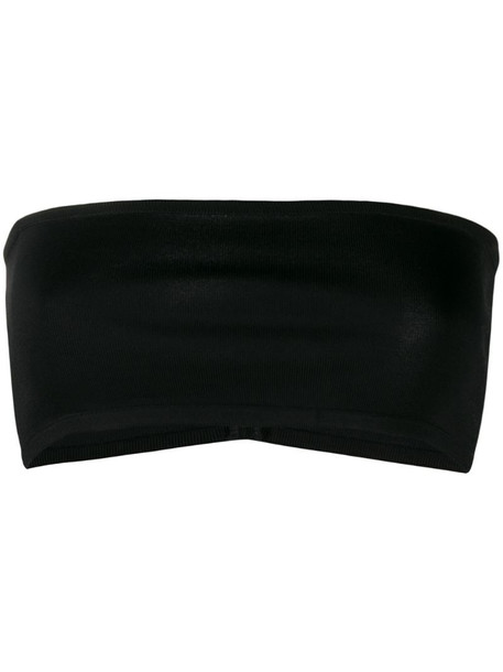 Balmain strapless cropped top in black