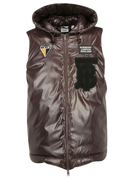 Burberry Iona Down Jacket Vest in brown