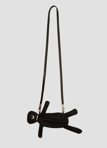 Rick Owens Leather Cyclops Pouch Bag in Black size One Size