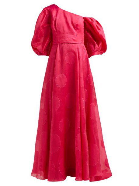 Carolina Herrera - Fil Coupé Silk Blend Organza Gown - Womens - Fuchsia