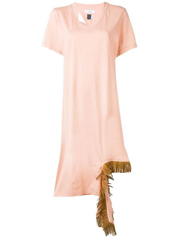 Facetasm fringe detail dress in pink