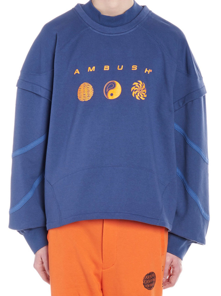 Ambush 'patchwork' Sweatshirt in blue
