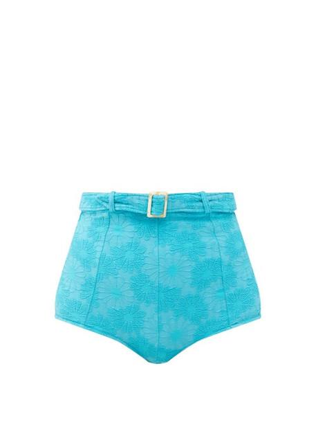Dodo Bar Or - Pamela Belted High-rise Bikini Briefs - Womens - Blue