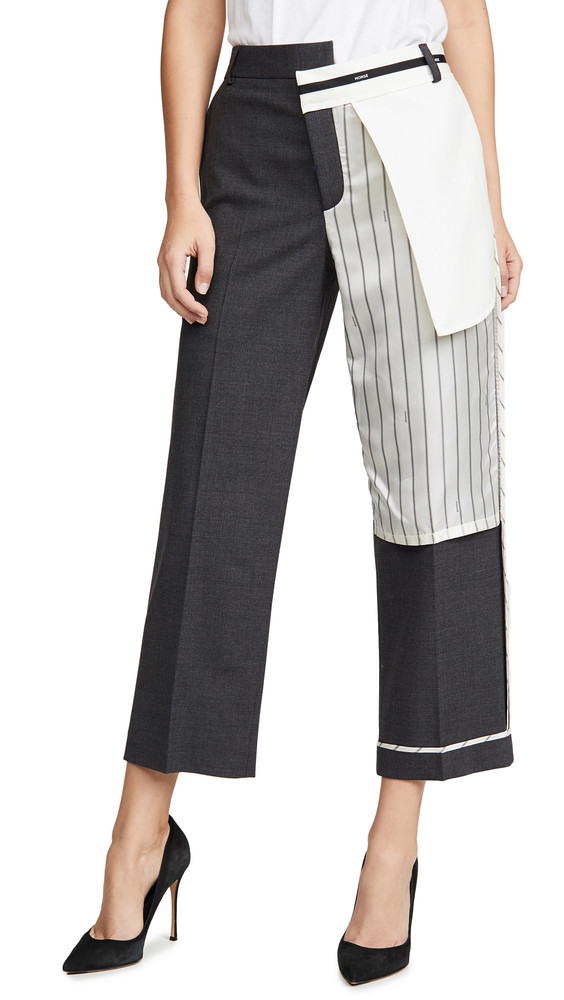 Monse Inside Out Pinstripe Pocket Pants in charcoal